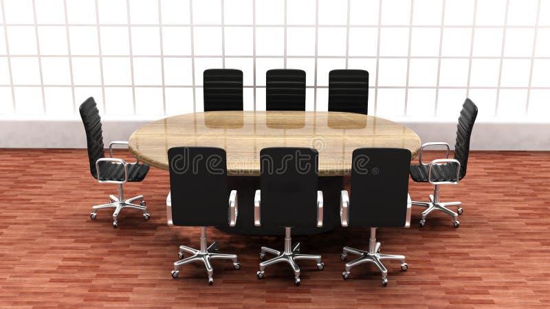 Interior of a modern office meeting room stock illustration