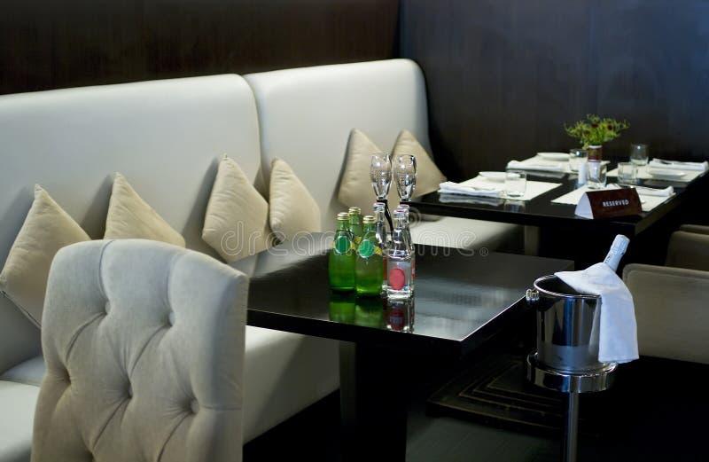 Interior of modern restaurant 2. Interior of modern restaurant. Shallow DOF stock images