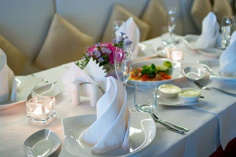 Interior of modern restaurant 3. Interior of modern restaurant. Shallow DOF royalty free stock photos
