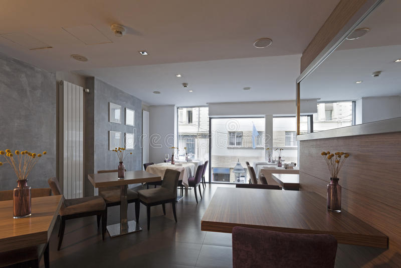 Interior of a modern restaurant.  stock photography