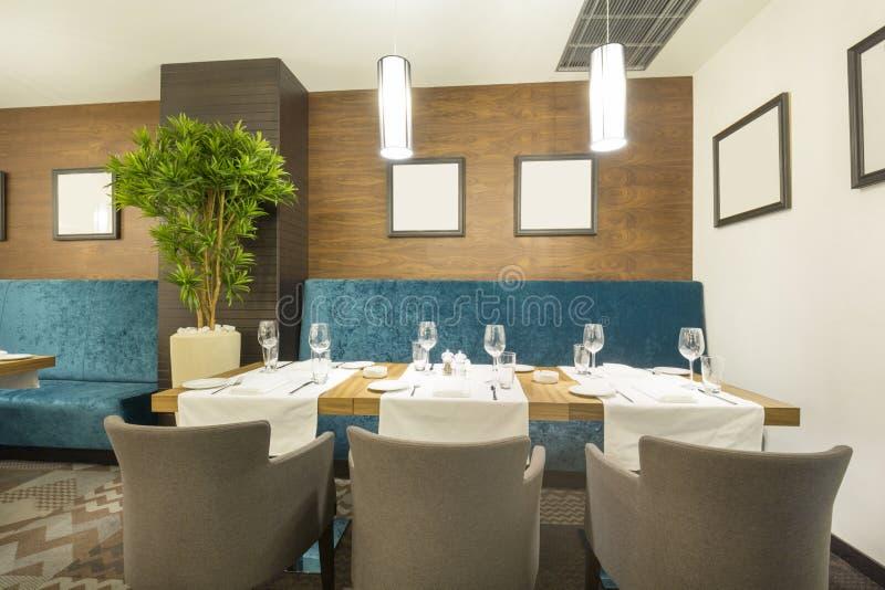 Interior of a modern restaurant.  royalty free stock photos