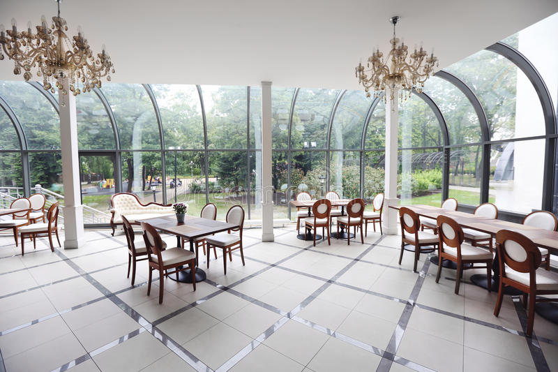 Interior of modern restaurant royalty free stock photos