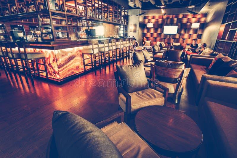 Interior of modern restaurant royalty free stock image