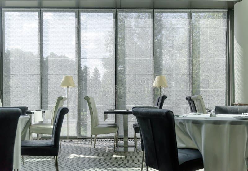 Interior of modern restaurant. Nobody stock photos
