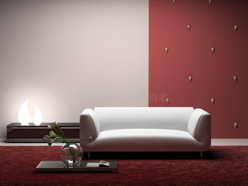 interior modern room 库存例证