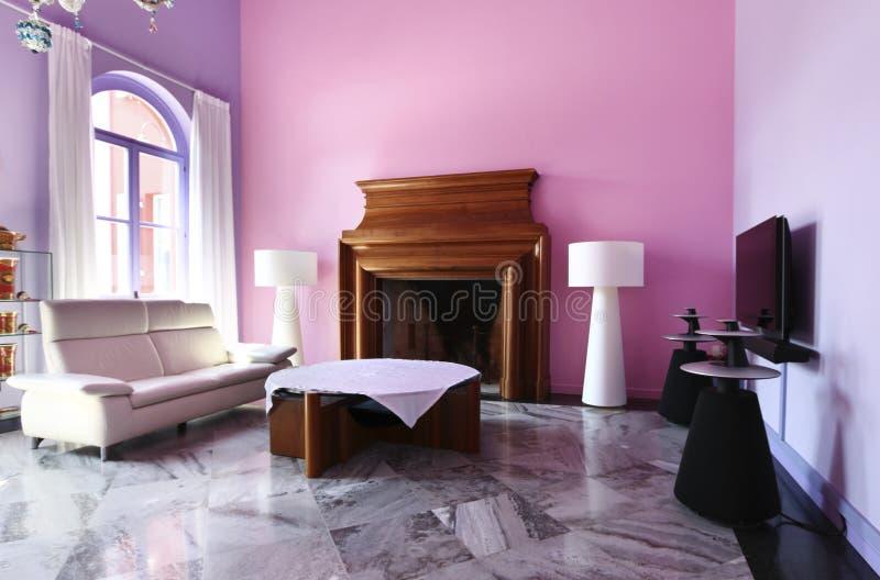 Interior modern style villa royalty free stock photo