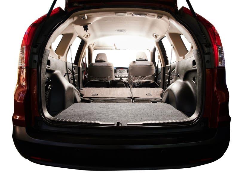 Interior of modern SUV car stock photography