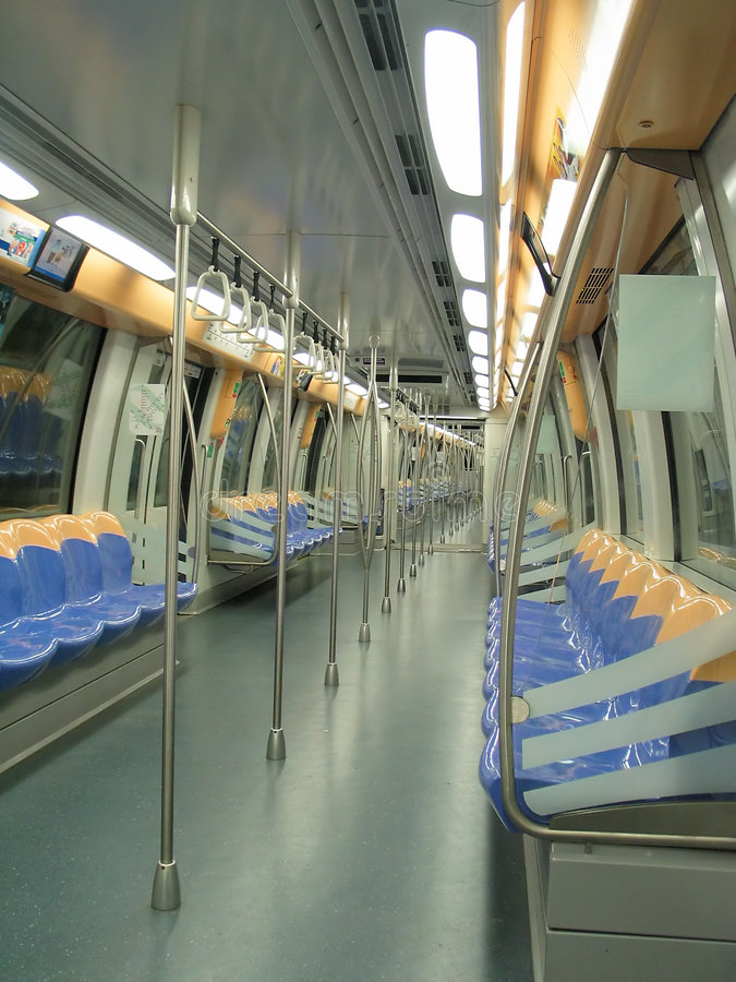 Download Interior of a modern train stock photo. Image of singapore - 198940