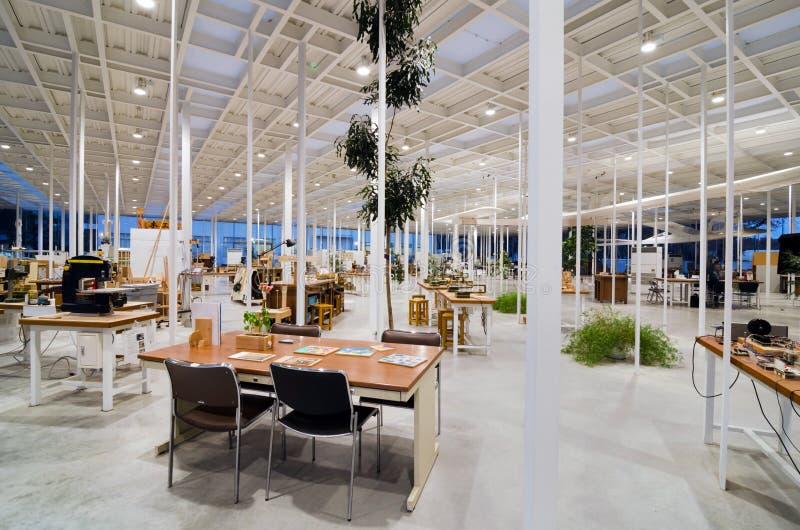 Interior Of Modern Workshop In Kanagawa Institute Of ...