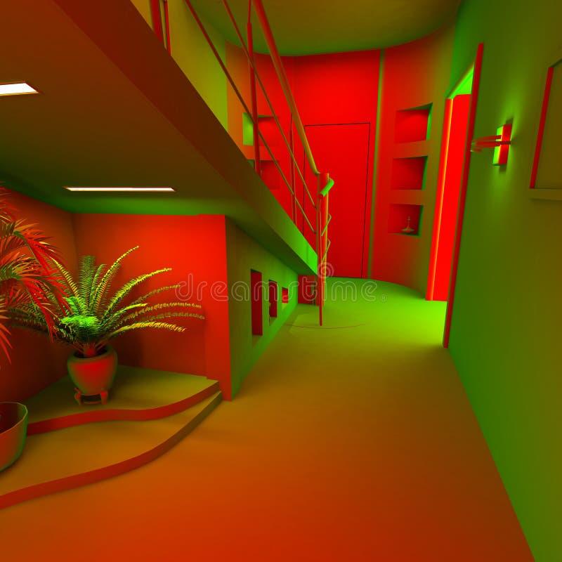 Interior moderno ácido libre illustration