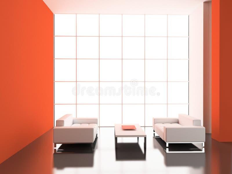 Interior moderno. ilustración del vector