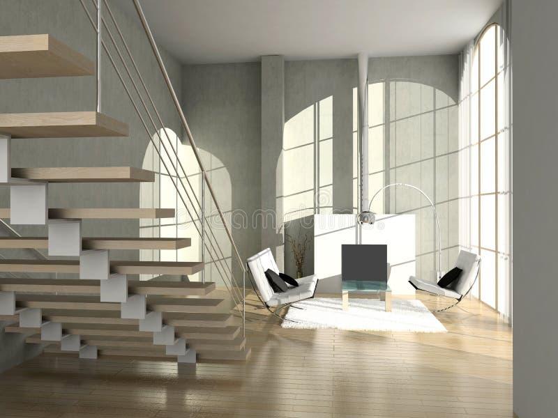 Interior moderno. ilustração stock