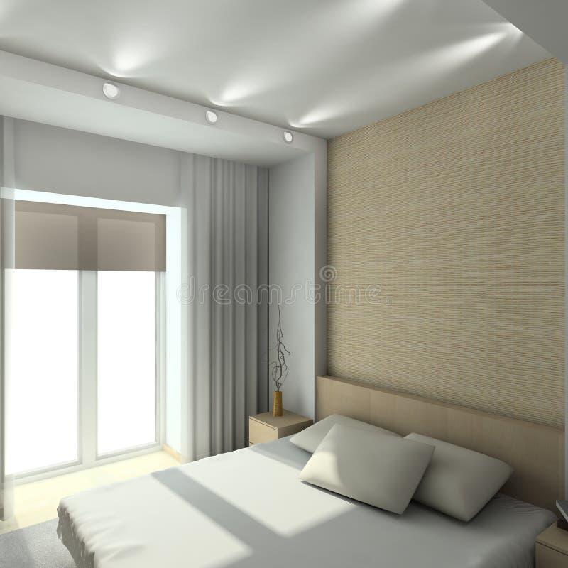 Interior moderno. 3D rendem ilustração do vetor