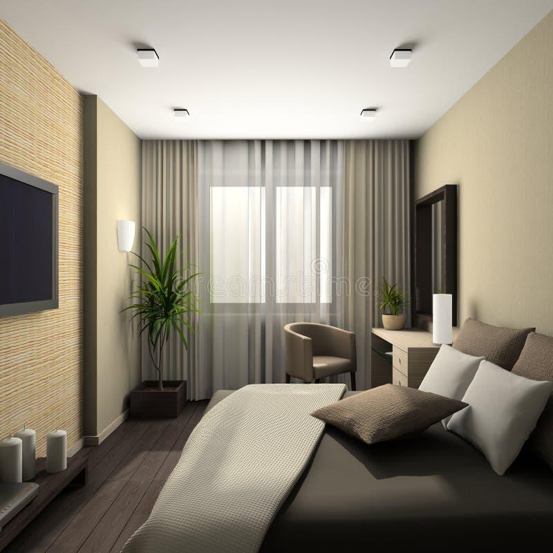 Interior moderno. 3D rinden fotos de archivo