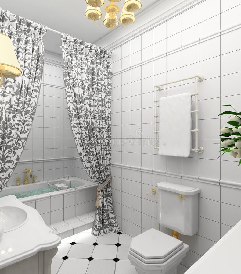 Interior moderno. 3D rinden ilustración del vector