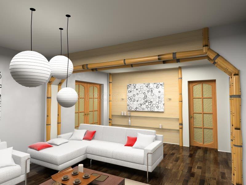 Interior moderno ilustração do vetor