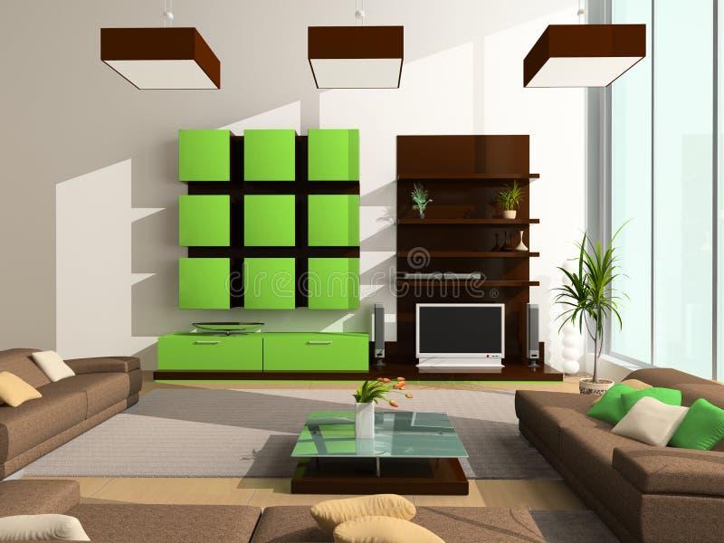 Interior moderno ilustração royalty free