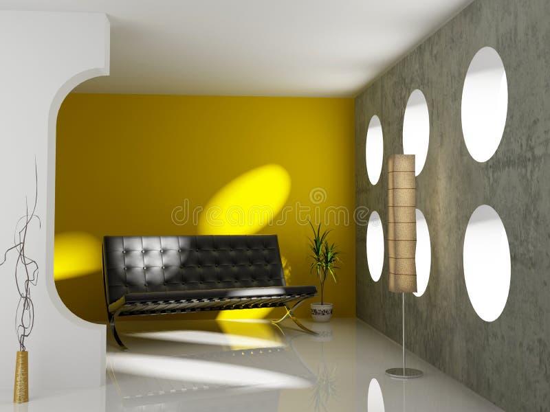 Interior moderno ilustração stock