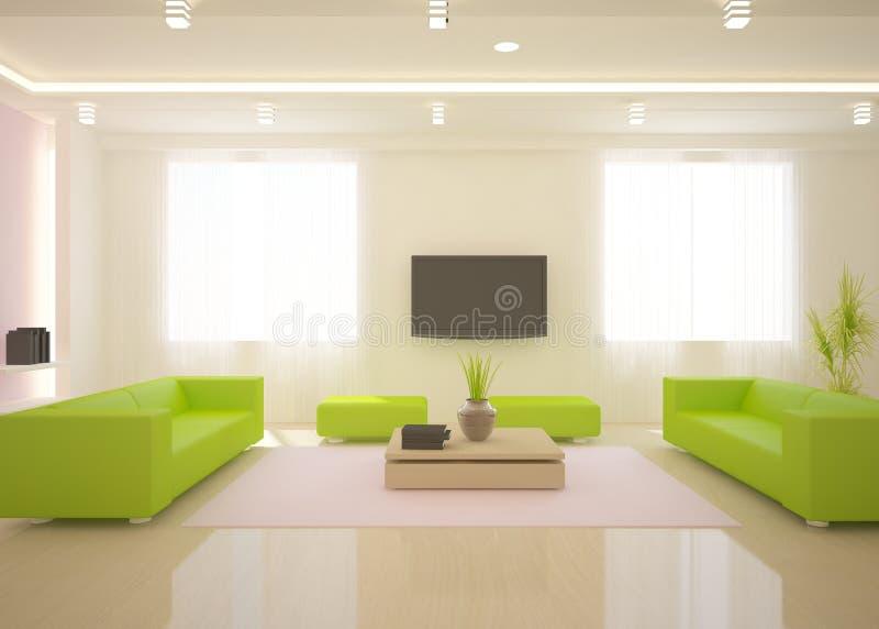 Interior moderno blanco stock de ilustración