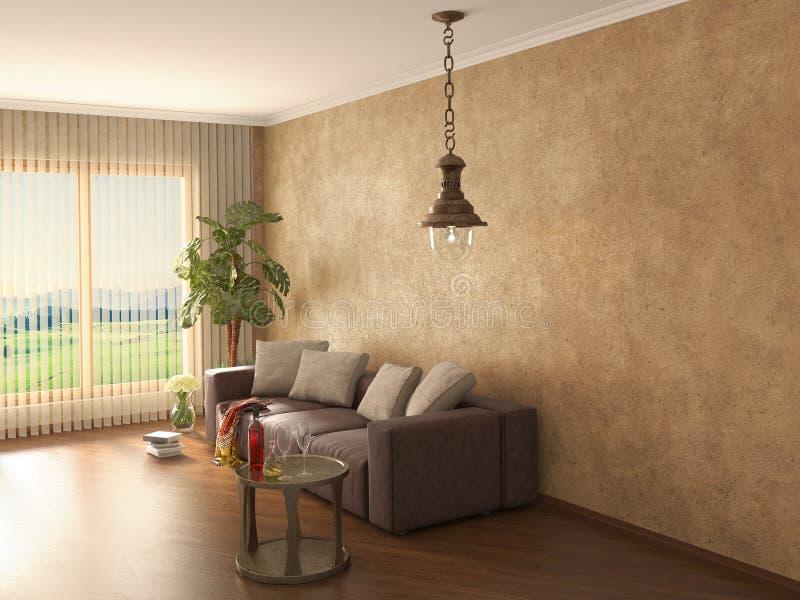 Interior moderno clássico ilustração royalty free