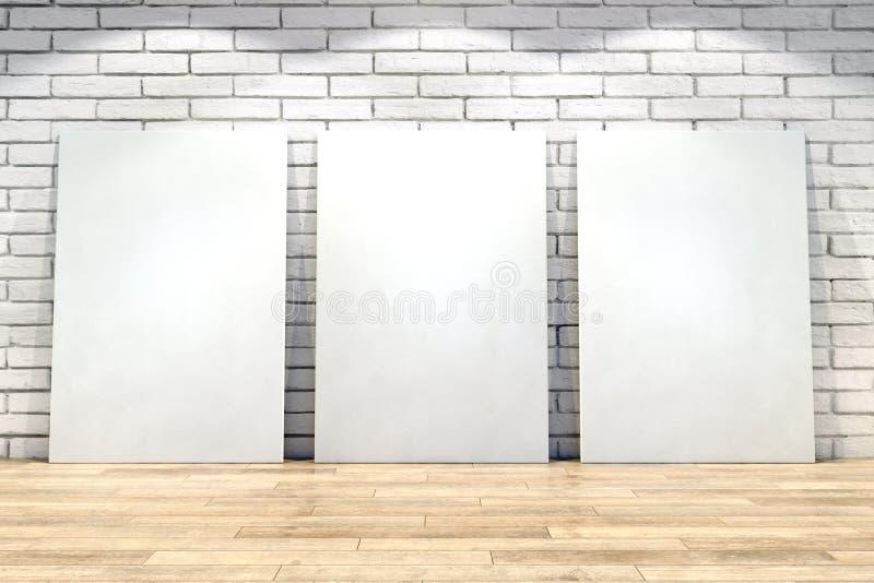 Interior moderno com cartazes vazios ilustração royalty free