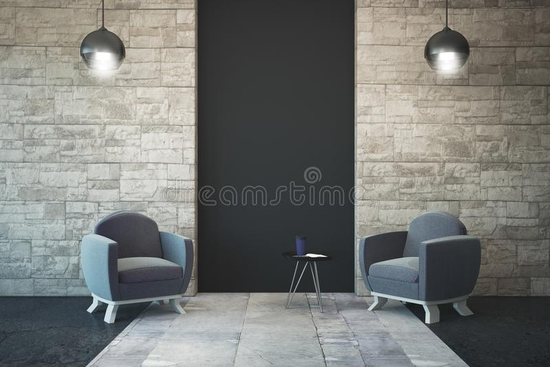 Interior moderno com copyspace ilustração royalty free