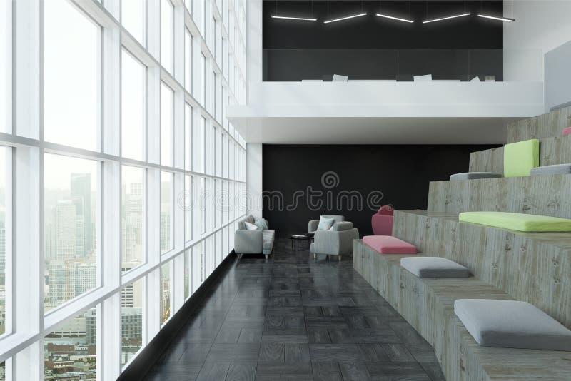 Interior moderno com lado dos assentos ilustração do vetor
