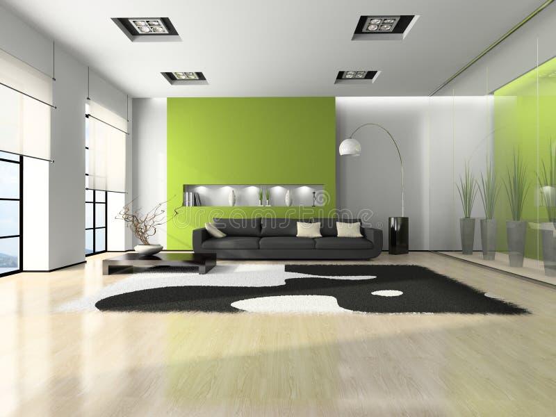 Interior moderno com sofá ilustração do vetor