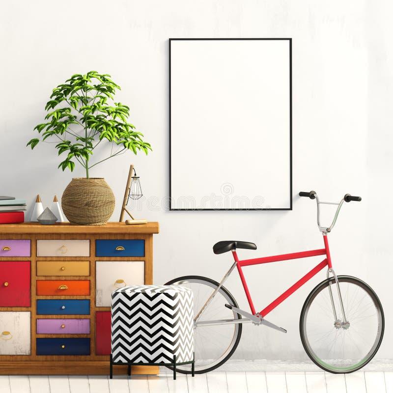 Interior moderno con el aparador ilustración 3D libre illustration