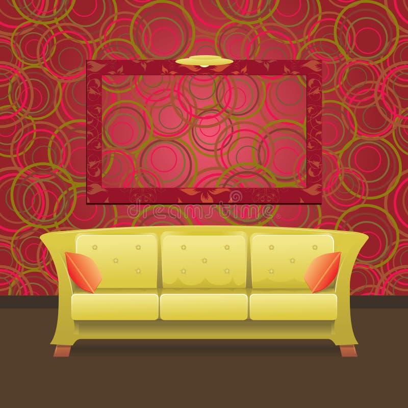 Interior moderno con estilo ilustración del vector