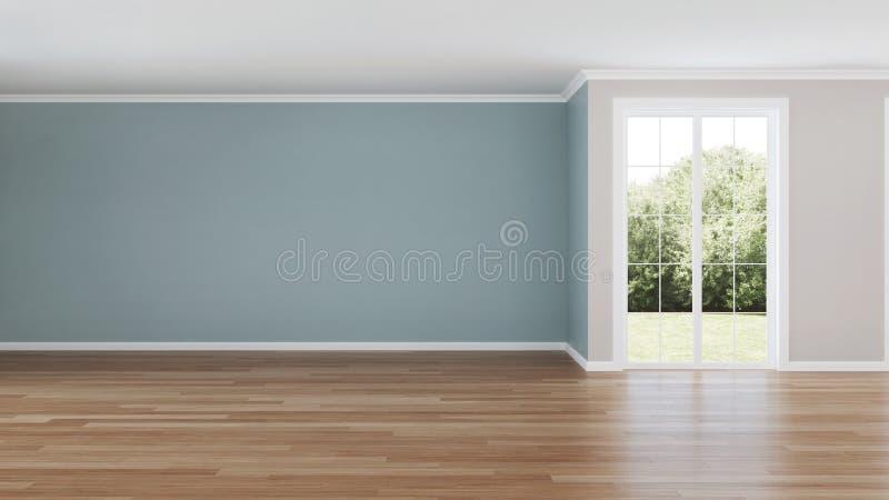 Interior moderno da casa Quarto vazio fotos de stock