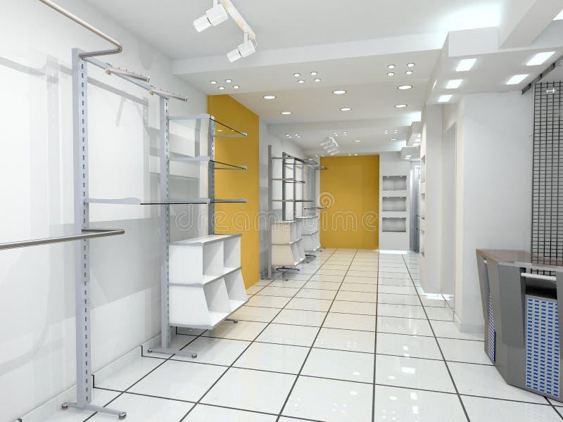Interior moderno da loja ilustração royalty free