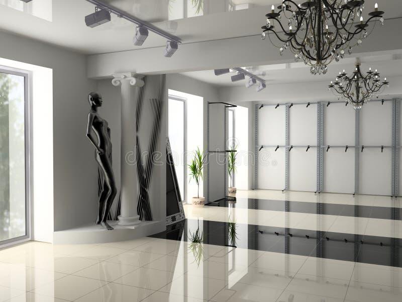Interior moderno da loja fotografia de stock royalty free
