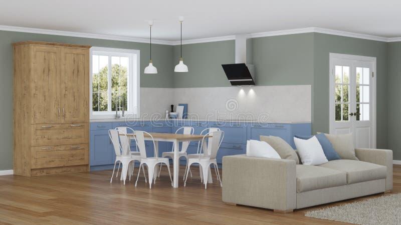 Interior moderno de la casa Proyecto de diseño ilustración del vector
