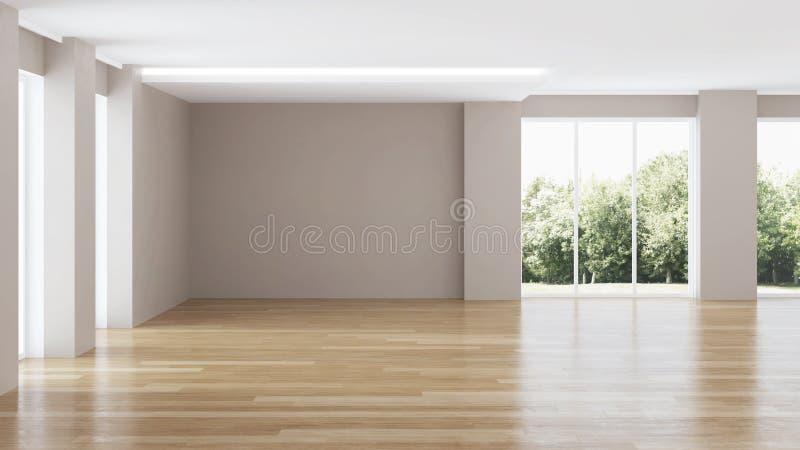 Interior moderno de la casa reparaciones ilustración del vector