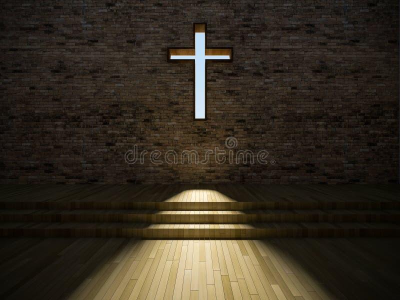 interior moderno de la iglesia 3d libre illustration
