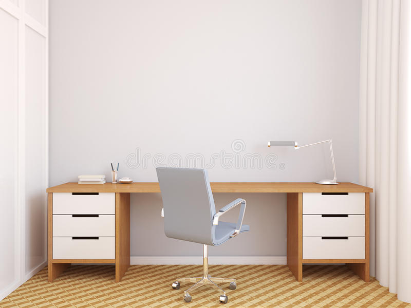 Interior moderno de la oficina libre illustration