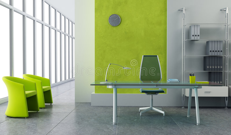 Interior moderno de la oficina ilustración del vector