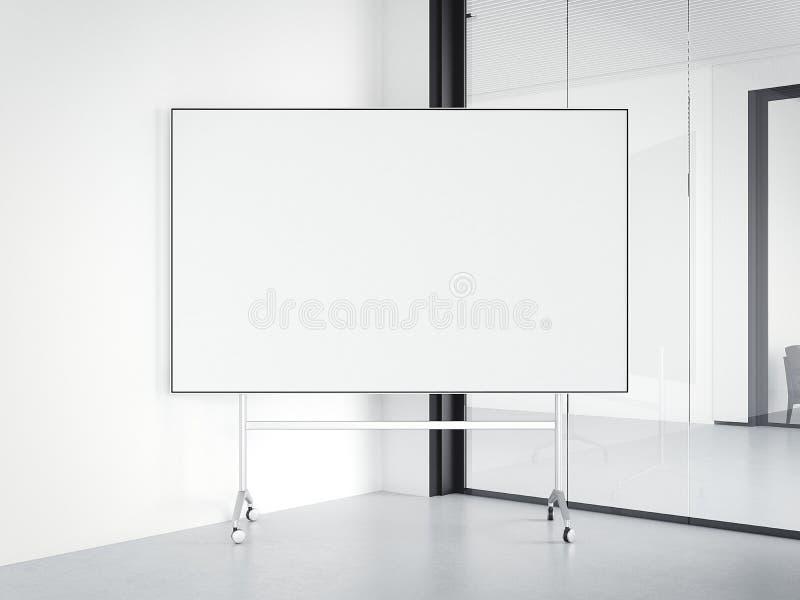 Interior moderno de la oficina con whiteboard representación 3d ilustración del vector