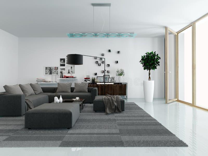 Interior moderno de la sala de estar fotografía de archivo libre de regalías