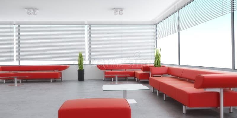 Interior moderno de um quarto ilustração do vetor