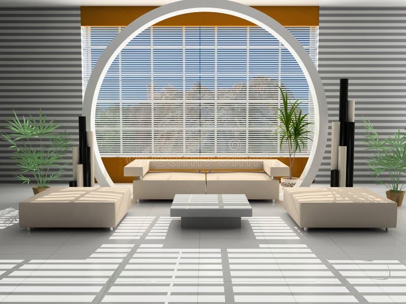 Interior moderno de um salão ilustração royalty free