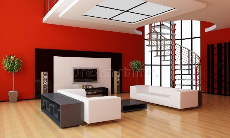 Interior moderno de un cuarto libre illustration