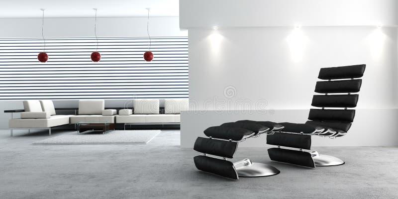 Interior moderno de un cuarto ilustración del vector