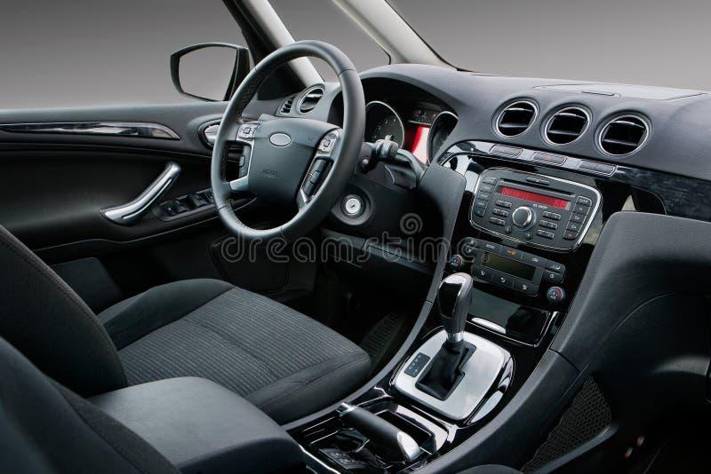 Interior moderno del coche fotografía de archivo