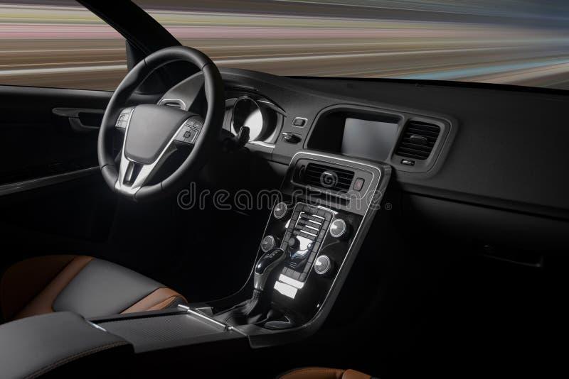 Interior moderno del coche deportivo imágenes de archivo libres de regalías