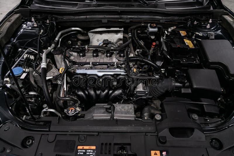 interior moderno del coche: piezas, botones, botones fotografía de archivo libre de regalías