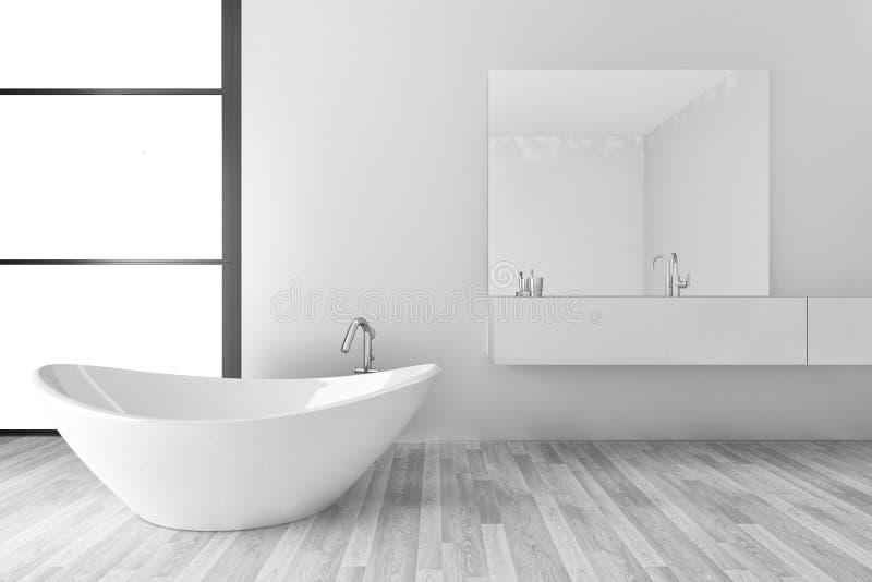 Interior moderno del cuarto de baño libre illustration
