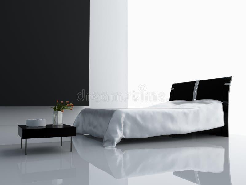 Interior moderno del dormitorio libre illustration