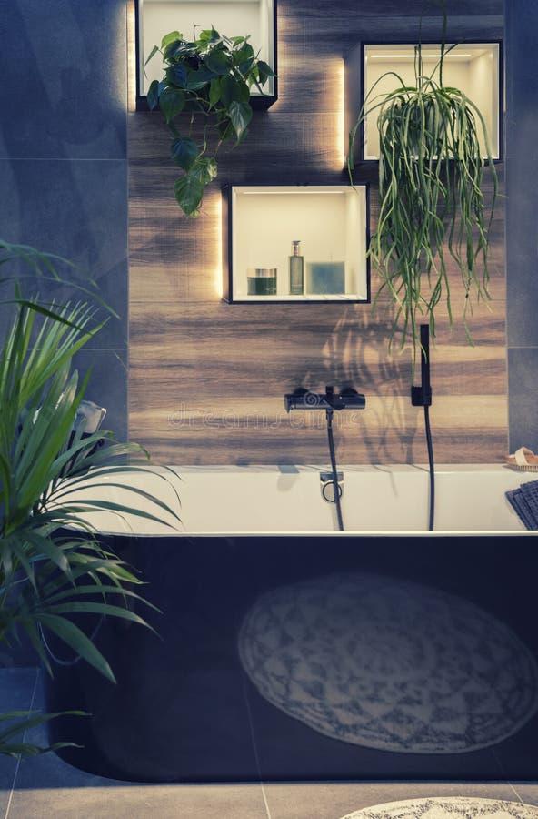 Interior moderno del sitio del baño imagen de archivo libre de regalías